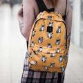 Рюкзак ZAIN желтый с енотами купить по лучшей цене в Минске