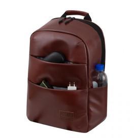 Рюкзак ASGARD P-7243 коричневый из премиальной эко кожи -цена, фото, описание, купить в Минске