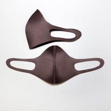 Маска защитная для лица 3-х слойная коричневая