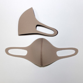 Маска защитная для лица 3-х слойная серая