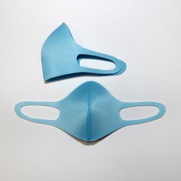 Маска защитная для лица 3-х слойная голубая