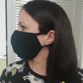 Маска защитная для лица 2-х слойная двухсторонняя