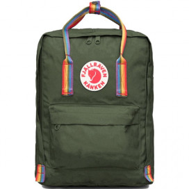 Рюкзак Kanken  Fjallraven CLASSIC RAINBOW FOREST GREEN зеленый