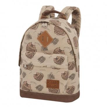 Рюкзак ASGARD Р-5434 Коты полосатые коричневые купить в Минске и Беларуси