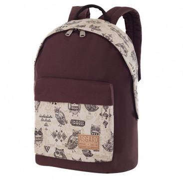Рюкзак ASGARD Р-5538 КоричневыйП  Совы бежый - цена, фото, описание