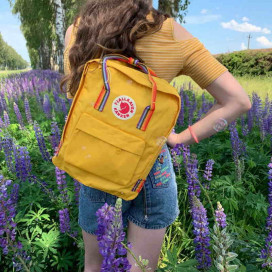Рюкзак Fjallraven Kanken Classic RAINBOW WARM YELLOW желтый