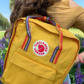 Рюкзак Fjallraven Kanken Classic RAINBOW WARM YELLOW желтый