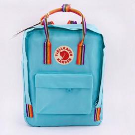 Рюкзак Fjallraven CLASSIC RAINBOW светло голубой с радужными ручками - цена, фото, описание, недорого