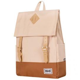 Рюкзак 8848 бежевый 173-002-024 с фирменным пятачком на крышке