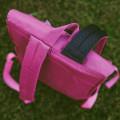 Рюкзак 8848 серо розовый с фирменным пятачком на крышке173-002-040
