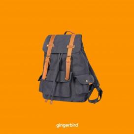 Рюкзак Ginger Bird Даллас черный (рыжая кожа) - цена, фото, описание