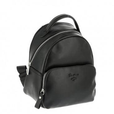 Рюкзак David Jones 6513-3 ЧЕРНЫЙ из экокожи