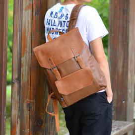 Рюкзак Three Box 3526-2 светло-коричневый из эко кожи