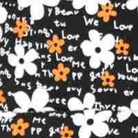 Цветы черно оранжевые