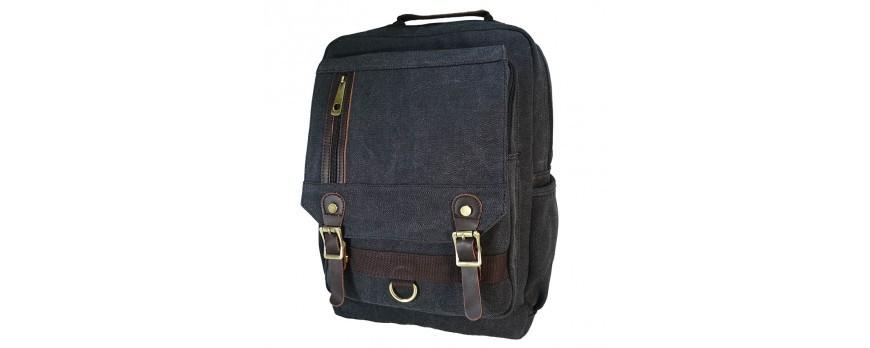 Рюкзак EMIREX с вставками из натуральной кожи.