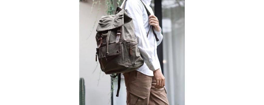 Крафтовые винтажные рюкзаки