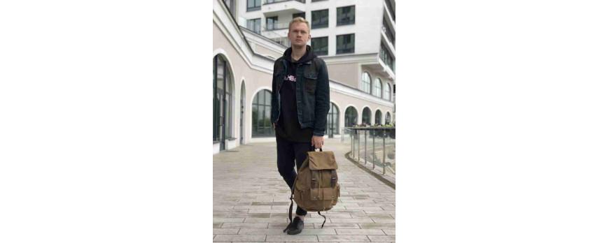 Крафтовые рюкзаки Asgard из брезента и холста.